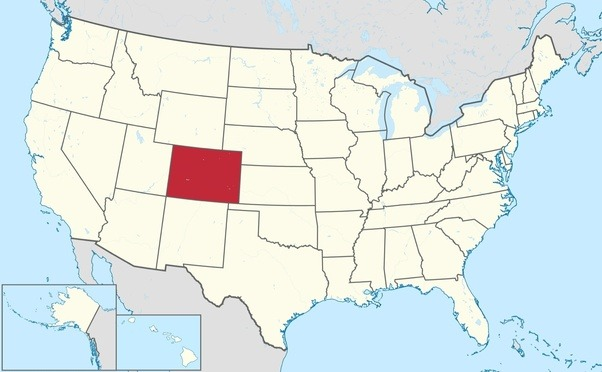 us map with colorado